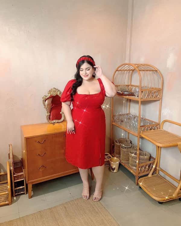 All Red Summer Gown For Plus Size