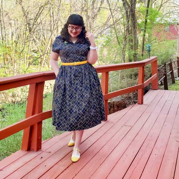 Belted Gown + Yellow Heels + Sunglass