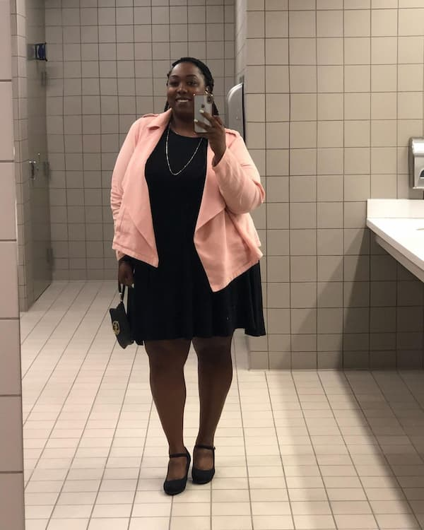 Blazer and Dress Outfit for Plus Size
