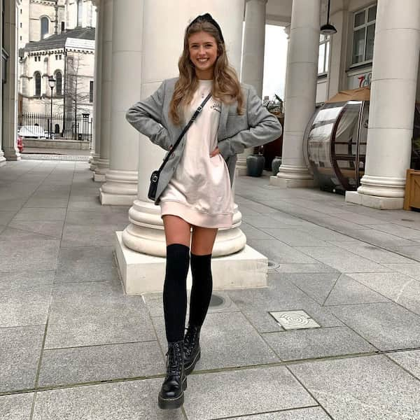 Cute Jumper Dress Outfit for Winter