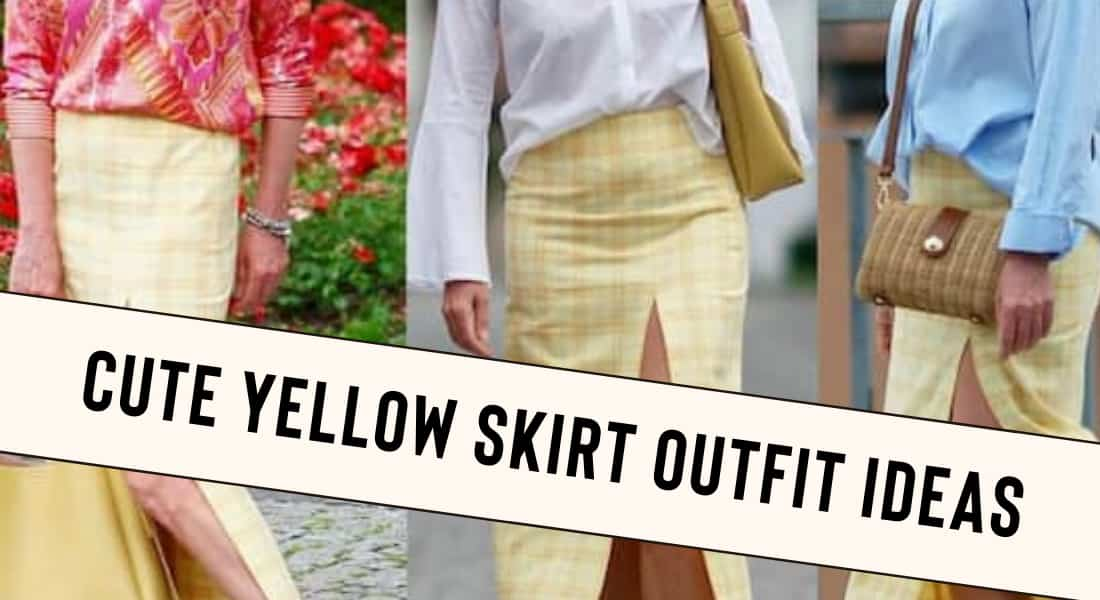 Cute Yellow Skirt Outfits