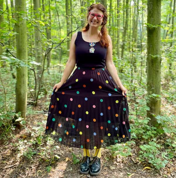 Dotted Black Vintage Gown + Boots