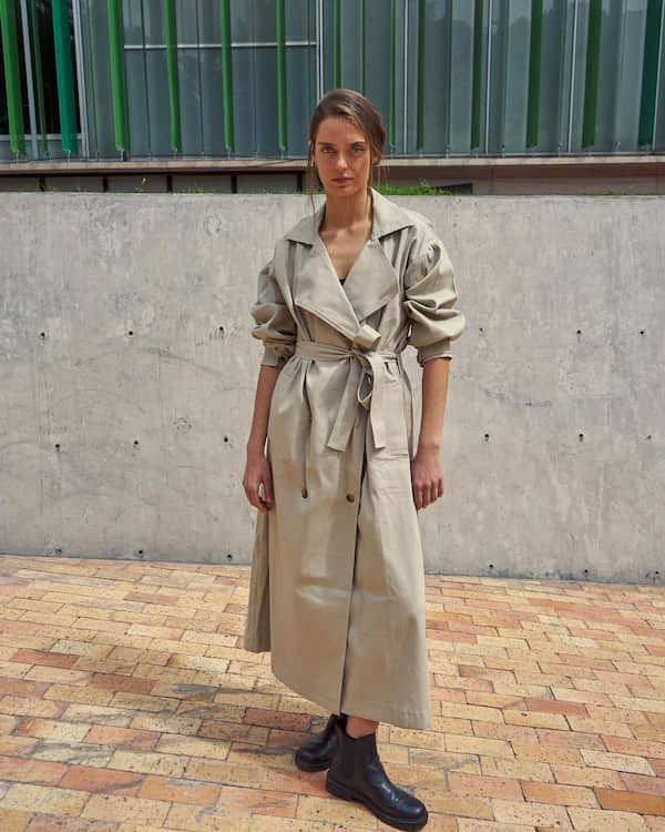 Enclosed Trench Coat
