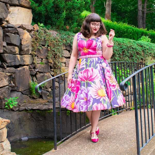 Flowery Vintage Gown + Shoe