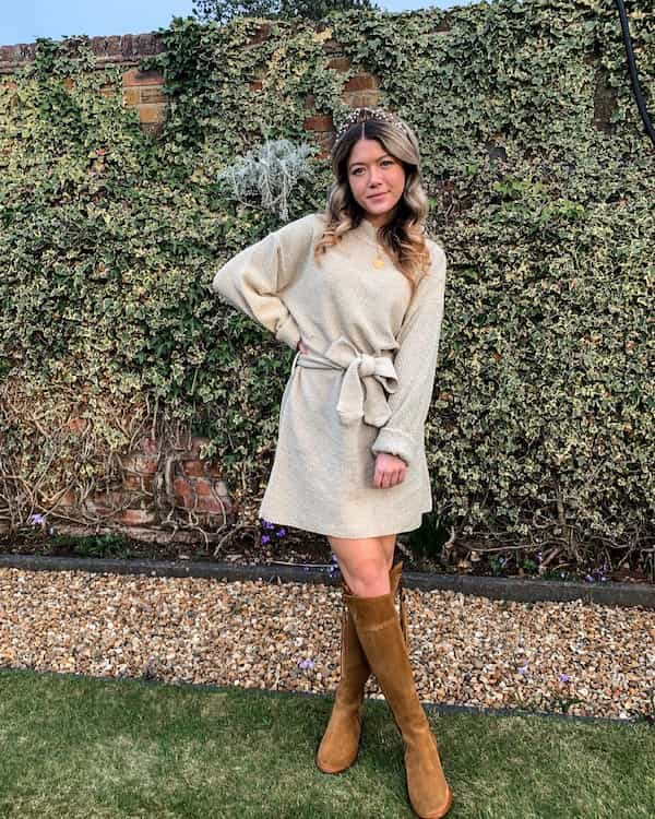 Jumper Dress Outfit For Spring