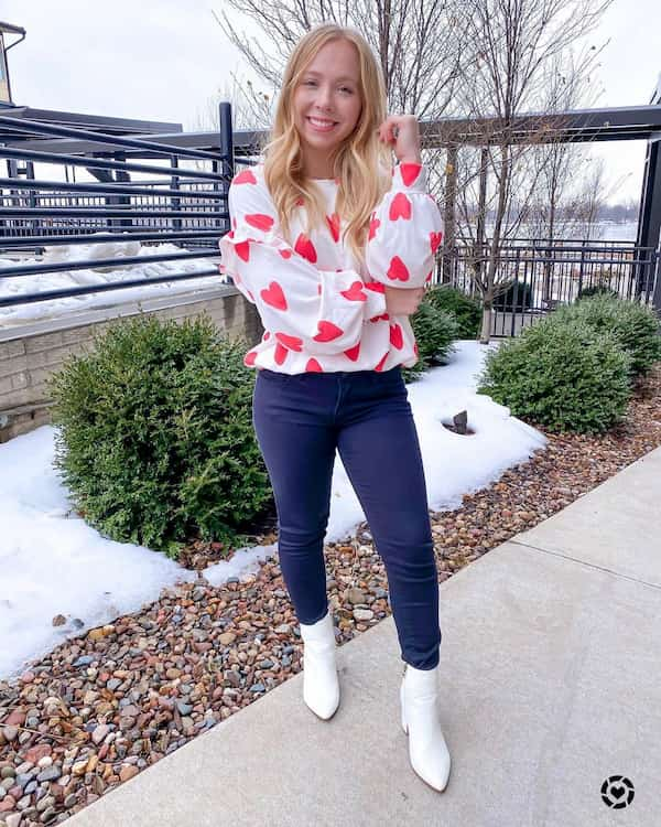 Long Sleeve Outfit for Valentine