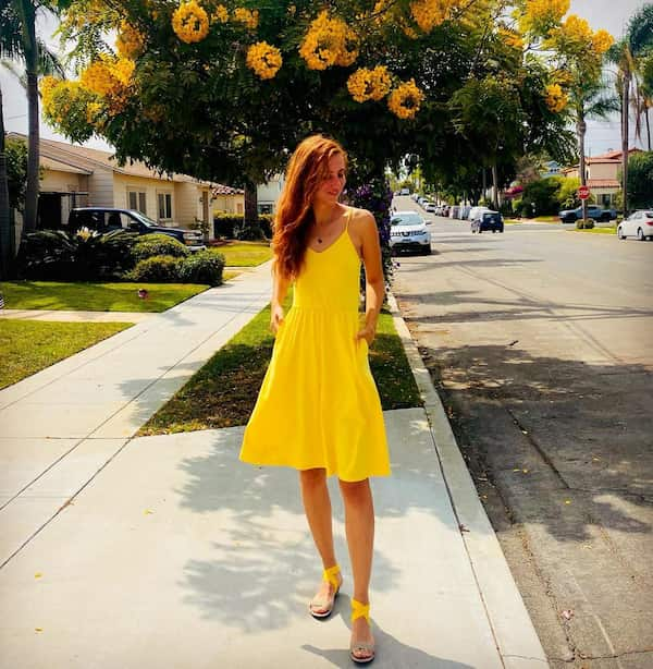 Yellow Short Gown + Yellow Sandals