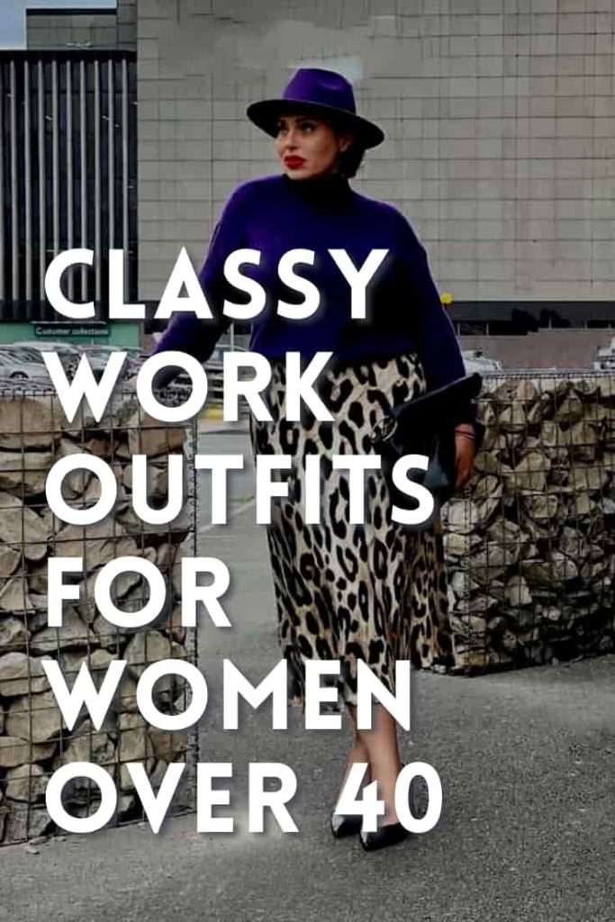 Classy Work Outfits for Women Over 40