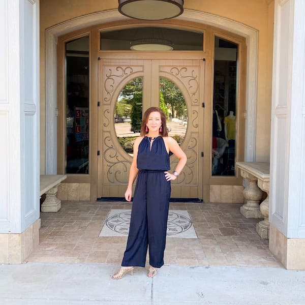 Sleeveless Jumpsuit Outfit for Women Over 40