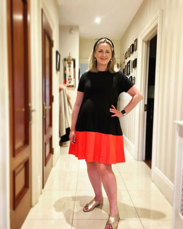 Two-Colored Gown + Skirt + Primark Sandals